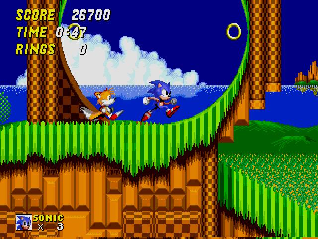 original sonic the hedgehog gameplay