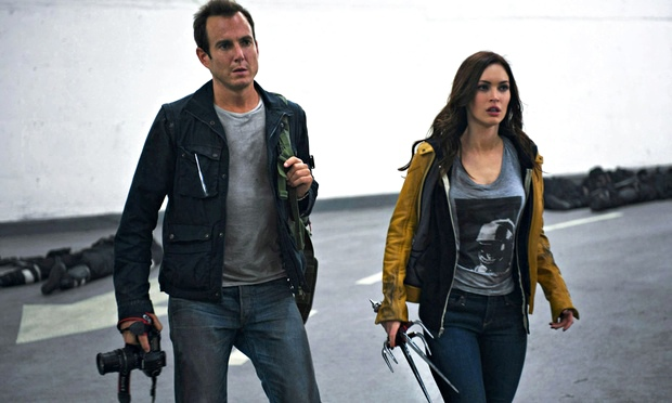 Will Arnett and Megan Fox in Teenage Mutant Ninja Turtles