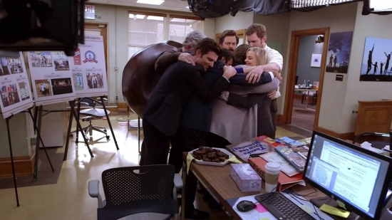 That is a series wrap on Parks and Recreation.