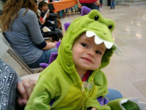 My nephew the dinosaur.